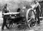 Haubica 100 mm wz. 14-19P zdobyta przez Niemców.
