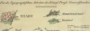 oznaczenia na IXX - wiecznych mapach
