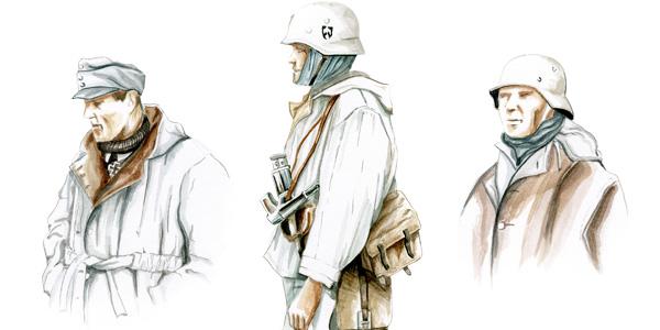 Zimowe mundury Armii Czerwonej i Wehrmachtu
