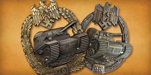 Niemieckie Pancerne Odznaczenie Bojowe II, III i IV stopnia cz. 1